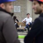 Canada, Edmonton. Oct/05/2013. Designing Downtown Bench Talks.